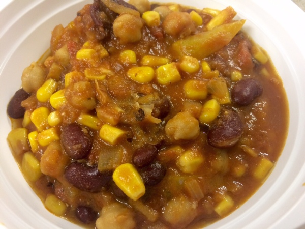 chili, chickpeas, vegan